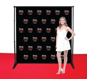 8x8ft step and repeat adjustable banner stands 0